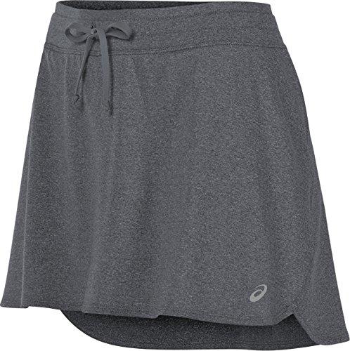 ASICS Women's Skort, Dark Grey Heather, Medium - Knit Running Skirt
