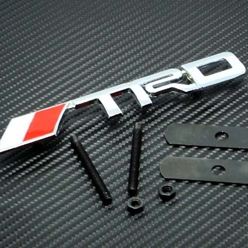 Toyota Racing (3D TRD Racing Grill Grille Emblem Red and Silver Universal Fit All Vehicles)