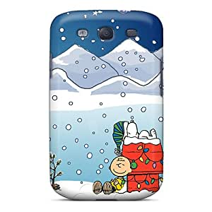 Samsung Galaxy S3 SWa2045RFUg Unique Design HD Snoopy Xmas Image Scratch Resistant Hard Cell-phone Case -DeanHubley
