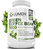 Pure Green Coffee Beans Extract - Maximum Strength Fat Burner Diet Supplement to Shown Accelerate Metabolism & Increase Energy - All Natural GCA (Green Coffee Antioxidant) (90 Count)