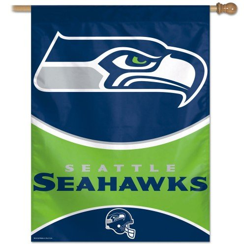 UPC 032085573315, NFL Seattle Seahawks 27-by-37-Inch Vertical Flag
