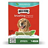 Milk-Bone Brushing Chews Fresh Breath Dog Treats, Large - 28.3 oz, 1 Pack