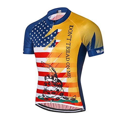 Weimostar USA Flag Men s Cycling Jersey Short Sleeve Reflective Bike Clothes  Size XL 1c402dbef