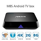 AKASO M8S 4K Android TV Box Dual Band Wifi 2.4GHz 5GHz Bluetooth 4.0 Quad Core CPU Octa-core GPU Amlogic S812 2GB RAM 8GB Flash KODI 16.0 HDMI Streaming Media Player