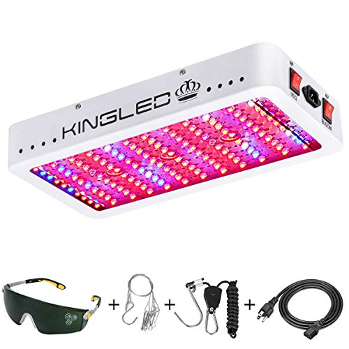 King Plus 1200w LED Grow Light Full Spectrum for Greenhouse Indoor Plant Veg and Flower(Dual-chip 10w LEDs)]()