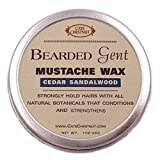 Bearded Gent Mustache Wax | Cedar Sandalwood All Natural Hold and Conditioner