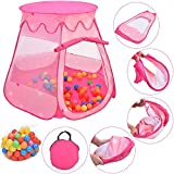 COSTWAY Pink Portable Kid Play House Play Tent with 100 Balls by SpiritOne