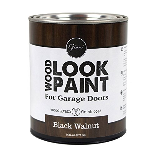 Giani Wood Look Paint for Garage Doors- Step 2 Wood Grain Finish Coat Pint (Black Walnut)