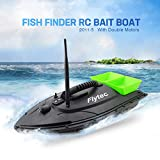 Remote Control Fishing Bait Boat-Fish Finder 1.5kg Loading 500m Fishing Tool Smart RC Boat Toy Wireless Smart Fishing Device (Green, RC Boat)