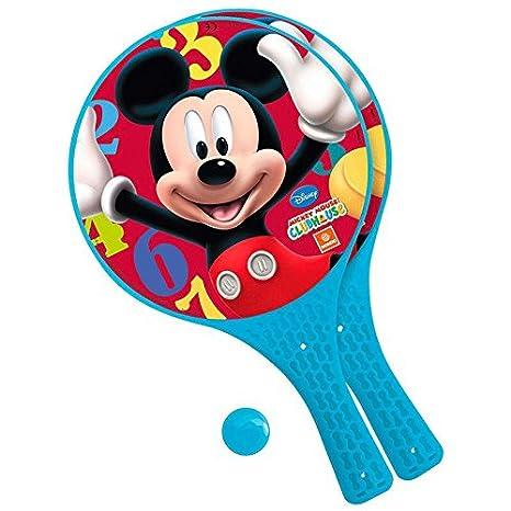 Mickey y sus amigos - Juego de raquetas con pelota blanda para ...