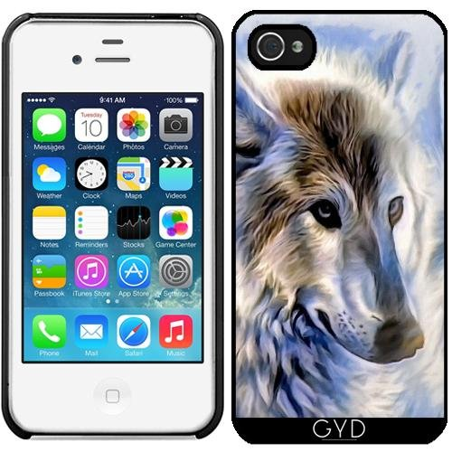 Coque pour Iphone 4/4S - Icewolf Loup Imaginaire by WonderfulDreamPicture
