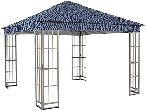 Garden Winds Replacement Canopy for The Garden Treasures SJ-109DN Gazebo – Standard 350 – Midnight Trellis