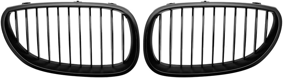 SHENGYAWAUTO Matte Black M Color Front Kidney Grill Grille For BMW E60 E61 5 Series 2003-2010