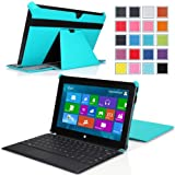 "Surface Pro / Surface Pro 2 Case, MoKo Slim-fit Cover Case for Microsoft Surface Pro / Surface Pro 2 10.6"" Inch Windows 8 Tablet (Fits with or without Type / Touch Keyboard Cover), Light BLUE"