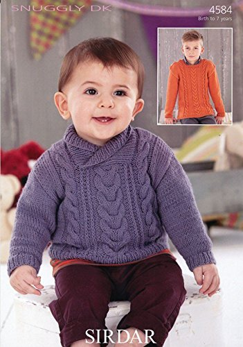 Amazon Sirdar Baby Sweaters Knitting Pattern 4584 Dk Home