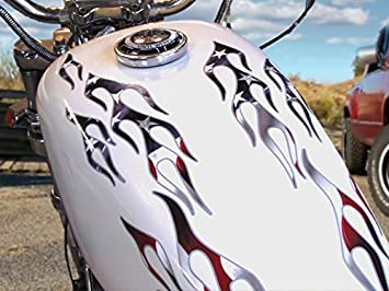 Motorcycle gas tank /& fender decal graphics deluxe set 2 color pin stripe