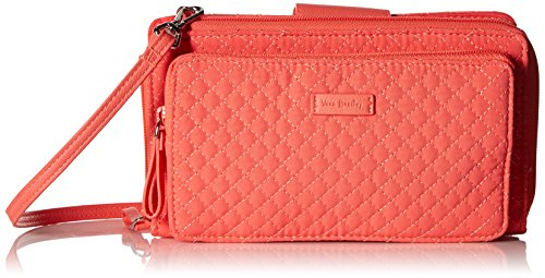 Checkbook Cover Paisley - Vera Bradley Iconic Deluxe All Together Crossbody, Microfiber, Coral Reef