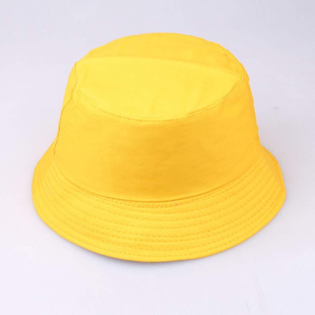Yellow Bucket Hat XGao Bucket Hats for Women Unisex Fisherman Hat Summer Outdoor Smile Face Printing Wearing Visor Folding Fishing Bucket Caps Foldable Outdoors Sun Cap Bucket Hats for Men