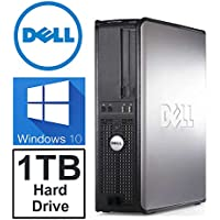 Dell Optiplex 380 Desktop Computer (1TB Hard Drive, Intel Core 2 Duo 3.0 CPU, 4GB DDR3 Memory, WiFi, Windows 10 Pro) (REFURBISHED)