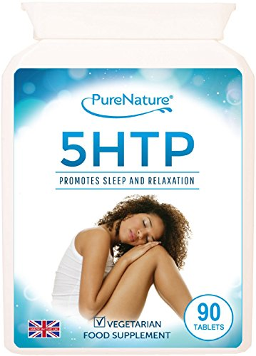 PURE 5-HTP 300mg Daily 5HTP Tablets- 4 Times Stronger to Support Sleep Mood Anxiety Diet-100% Natural Serotonin From Griffonia Extract -100% Quality Assured Money Back Guarantee-Made to GMP Standards in UK -5 Star Rated-Suitable for Vegetarians & Vegans-FREE UK DELIVERY