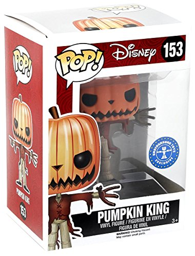 FUNKO Pop! Disney Pumpkin King #153 Hot Topic Exclusive Glows In The Dark / Nightmare Before Christmas Vinyl Figure