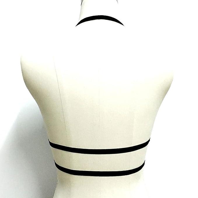 ZARLLE Ropa Interior De Vendaje De SeñOras Mujeres Vestido De Vendaje Elastico Hueco Jaula Strappy Sujetador Bustier Ropa Erotica Mujer Sexy: Amazon.es: ...