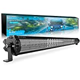 MICTUNING Magical M1 42 Inch Aerodynamic LED Light Bar with IceBlue Accent Light - Exclusive Streamline ArcMask Design 22680lm Off Road Driving Work Lamp, 2 Years Warranty