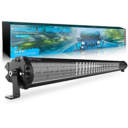 MICTUNING Magical M1 42 Inch Aerodynamic LED Light Bar - Exclusive Curved Lens Wind Diffuser - 22680lm Off Road Driving Work Lamp, 2 Years Warranty