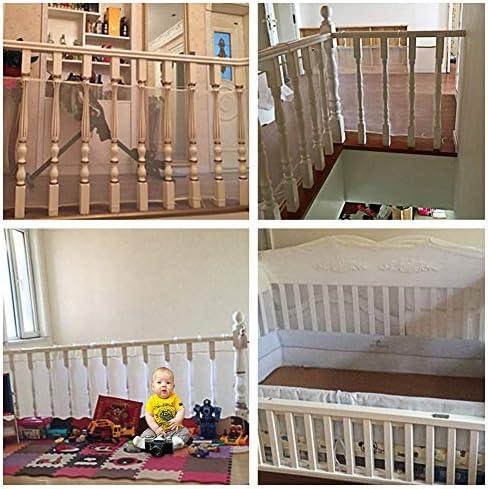 Red de malla de seguridad para barandilla del balcón del barandilla Escalera para bebés Juguetes para niños Mascotas,Caja fuerte parainteriores,exteriores,patios as,interiores,exteriores,patios: Amazon.es: Bebé