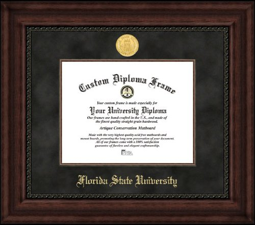 Campus Images FL985EXM Florida State Executive Diploma Frame, 11