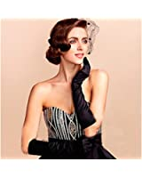 1920s Gatsby Classic Adult Size Black Long Opera Satin Flapper Gloves Elbow Length