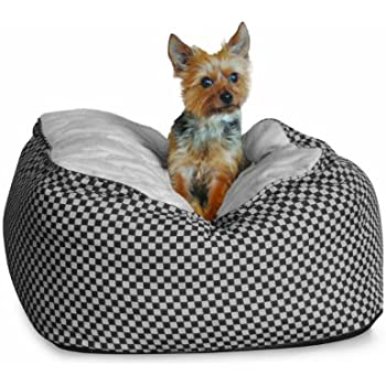 K&H Deluxe Small Cuddle Cube, Black Squares, 22-Inch by 22-Inch