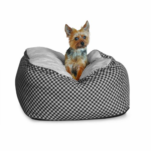 K&H Deluxe Large Cuddle Cube, Black Squares, 30-Inch by 30-Inch