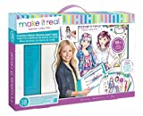 (US) Make It Real Fashion Design Mega Set with Light Table. Kids Fashion Design Kit Includes Light Table, Colored Pencils, Sketchbook, Stencils, Stickers, Design Guide and More