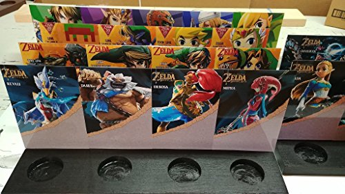 Legend of Zelda Amiibo Stands (Botw, 30th Anniversary, Super Smash Bros, and Wolf Link, Twilight Princess, SS, MM Link, Champions) All 22 slots. ()