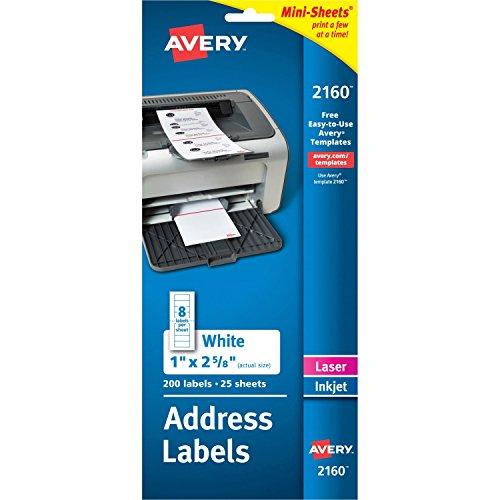 Avery 2160 Laser Labels, Address, 1
