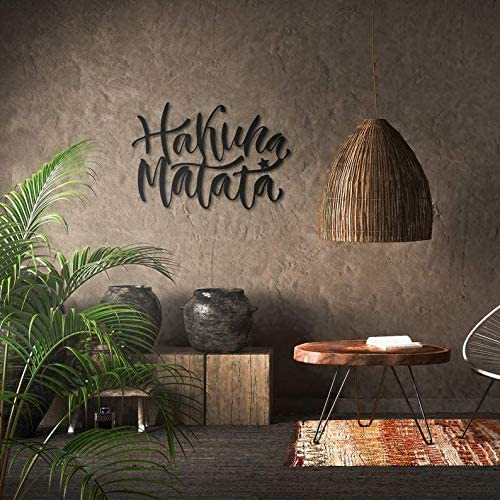 Decorazione da Parete in Metallo Northshire Hakuna Matata