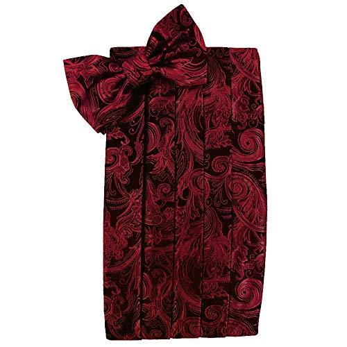 (Men's Tapestry Cummerbund & Bow Tie Set - Many Colors (Scarlet))