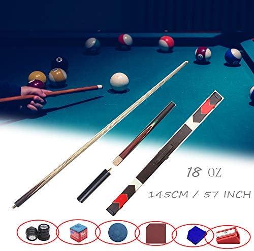 XZYY Taco De Billar Snooker Split Pool Cue Pole Adulto Tacos De Billar Profesional,3/4 Articulado,Hardwood Material,145cm/57 18 OZ,con Cabeza PequeñA 9.8mm,con Mango De Extensión: Amazon.es: Hogar