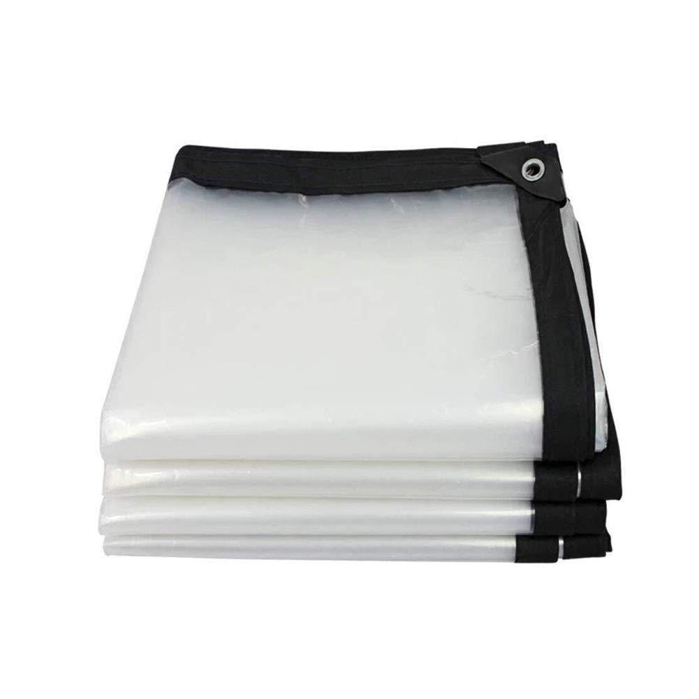 Clear 4x4M Wangcfsb Imperméabilisez Les Oeillets en métal épaississants de température d'isolation imperméable en Plein air extérieurs résistants à la Pluie faciles à Nettoyer PVC Verre Doux