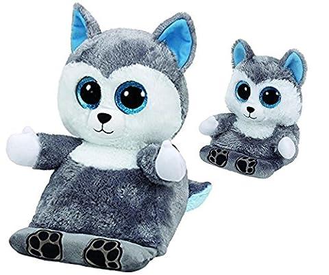 Scout the Husky Tablet Holder & Phone Holder (Ty Stuffed Husky)