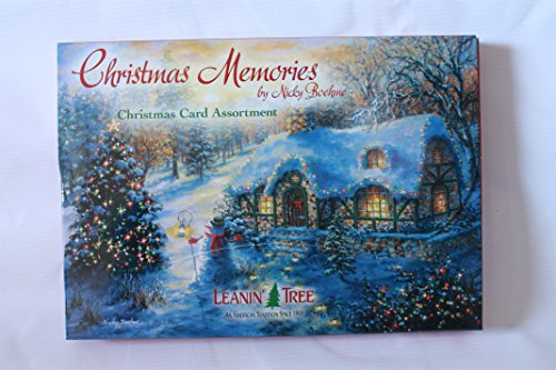 LEANIN' TREE ★ 20 PACK DESIGN CHRISTMAS CARDS ★ CHRISTMAS MEMORIES by NICKY BOEHME ★ MADE in USA ()