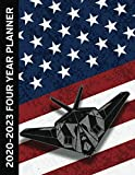 USA Military Jet Fighter 2020 - 2023 Four Year Monthly Planner: Calendar, Notebook and More