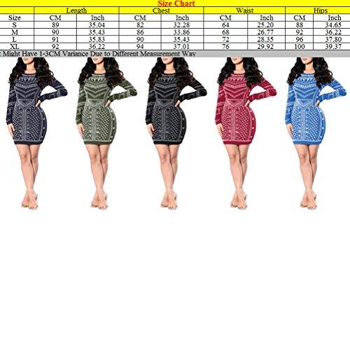 Zhhlaixing Fashion ropa de calidad Classic Wave Print Bandage Skirt Nightclub Dresses for Womens Black/Dark red/Army green/Blue Dark Blue