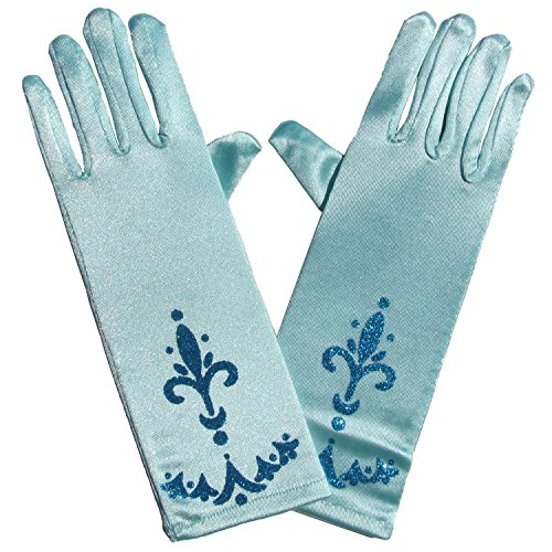Coronation Gloves - Kids Frozen Princess Halloween Costume or Dance Accessory (Light Blue) (Cheap Dance Costumes)