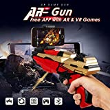 DNNY Mobile Phone Stand AR Game Gun Toy Bluetooth Toys Portable 360-Degree Augmented Reality Intelligent Virtual Video Game with Stand Holder for iPhone and Android All Smart Phone More Free Apps
