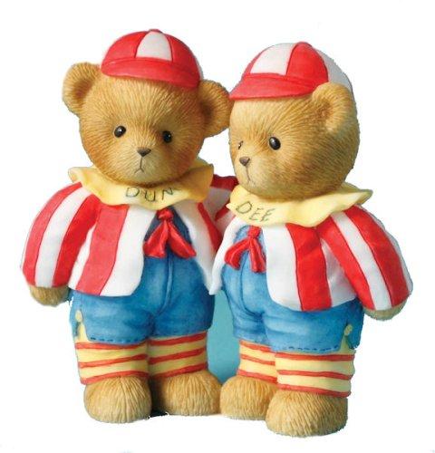 "Cherished Teddies Nathan and Hayley ""Brothers Are We, Tweedledum and Tweedledee"" Limited Edition Figurine"