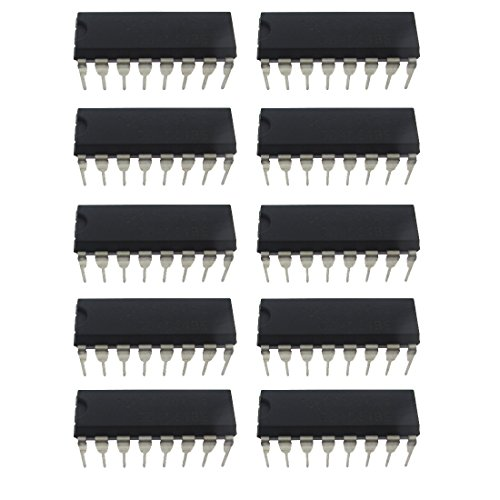10 Pcs CD4051 DIP-16 Single 8 Channels Analog Multiplexer IC
