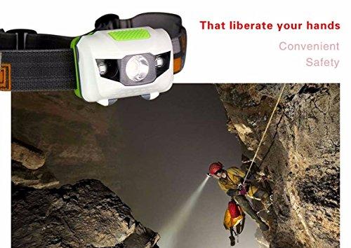 1 Pack 320 Lumen Q5 R3+2 White Red LED Flashlight Headlamp Headlight 4 Modes Energy Saving Headlamps Astonishing Fashionable Ultra Xtreme Tactical Military Fishing Bright Light w/ Headband, -