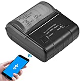 Bluetooth thermal printer, USB Mini Portable Multifunctional Rechargeable Variable Speed Printer POS Suitable for iOS Android Windows Linux Support 1D / 2D Code